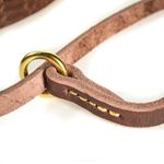 Butter Slip Leather Collar ring