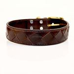 Crisscross Leather Collar