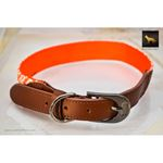 Diamond Pattern Fabric Leather Collar 4