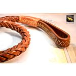 Statement Light Brown Braided Leather Leash 3