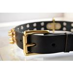 Gladiator Spiked Leather Collar