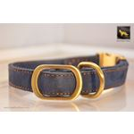Quick Release Blue Suede Leather Collar 2