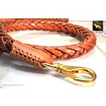 Statement Light Brown Braided Leather Leash