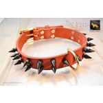 Gladiator II Spiked Leather Collar