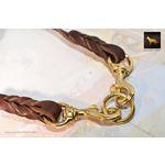 Love Knot Coupler II Leather Leash