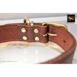 Rusty Red Oak Leather Collar 3