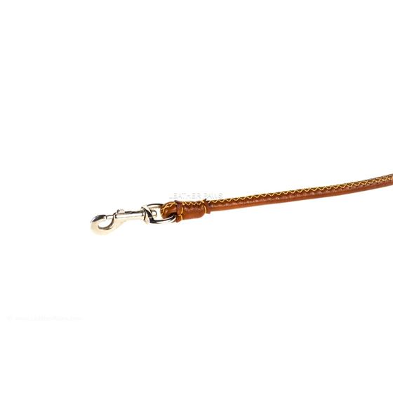 Crosshatch Rolled Leash Clasp