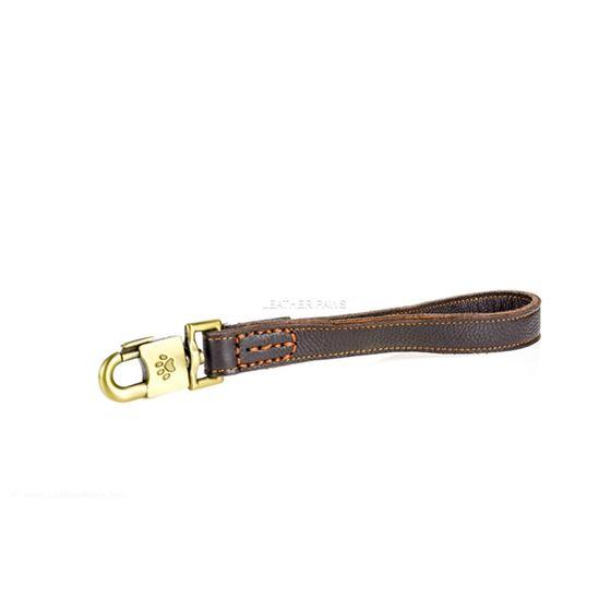 Tab Leather Leash Side