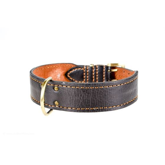 Leather Paws Monster III Leather Dog Collar Side 2