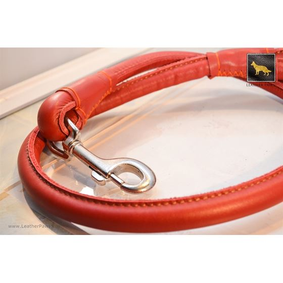 Rose Round Leather Leash