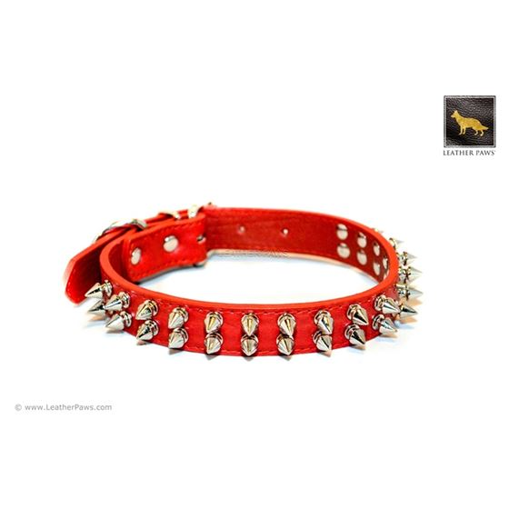 Red Gladiator Leather Collar