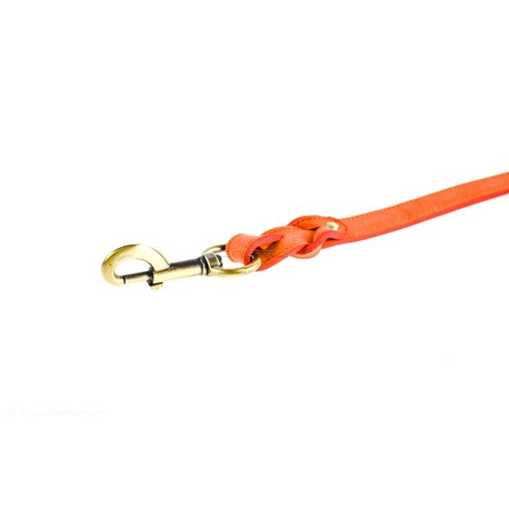 Love Knot II Peach Leather Leash