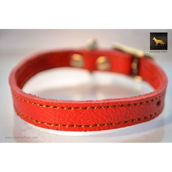 Tiny Diamonds Leather Collar 3
