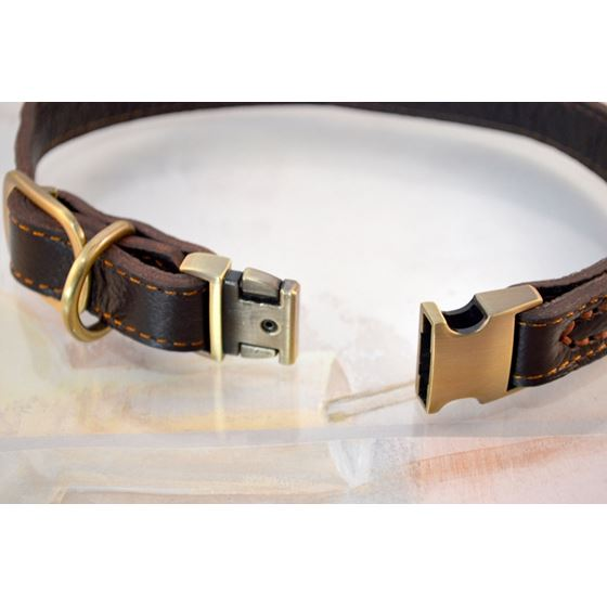 Quick Release Leather Collar 3
