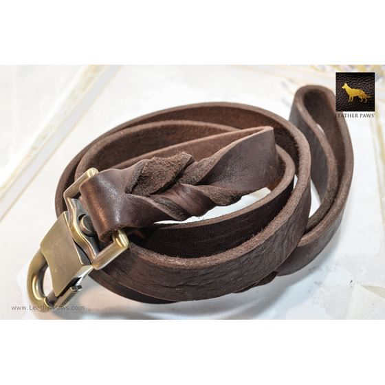 Grunge Chocolate Leather Leash