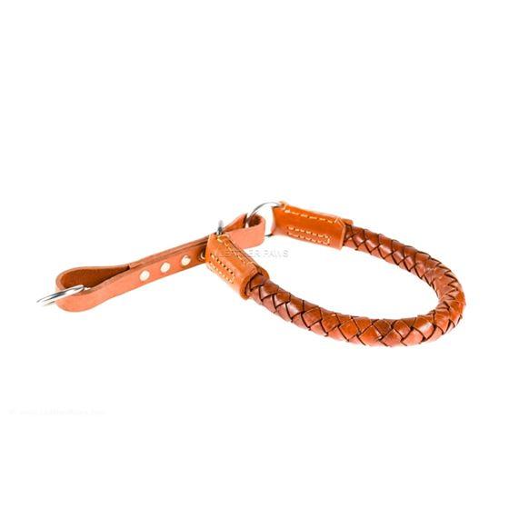 Roman III Braid Leather Collar Side