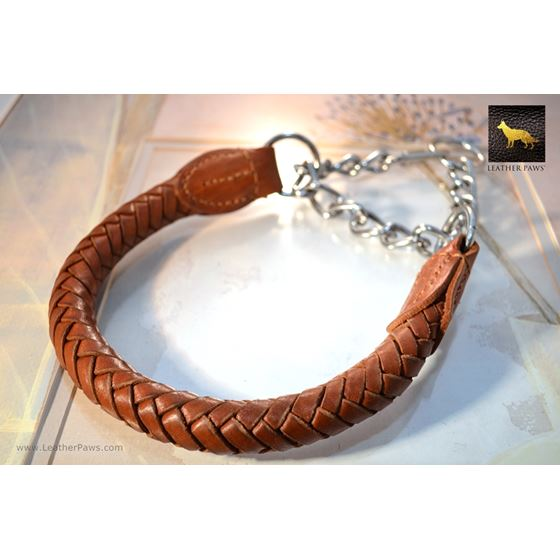Roman Braid Leather Collar
