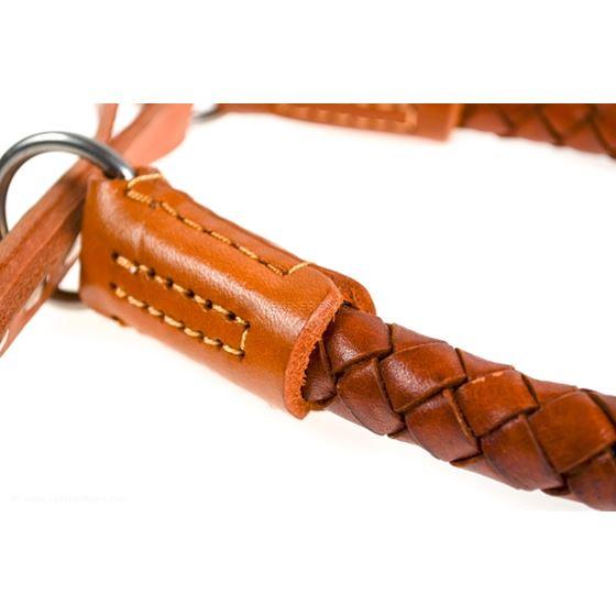 Roman III Braid Leather Collar Closeup