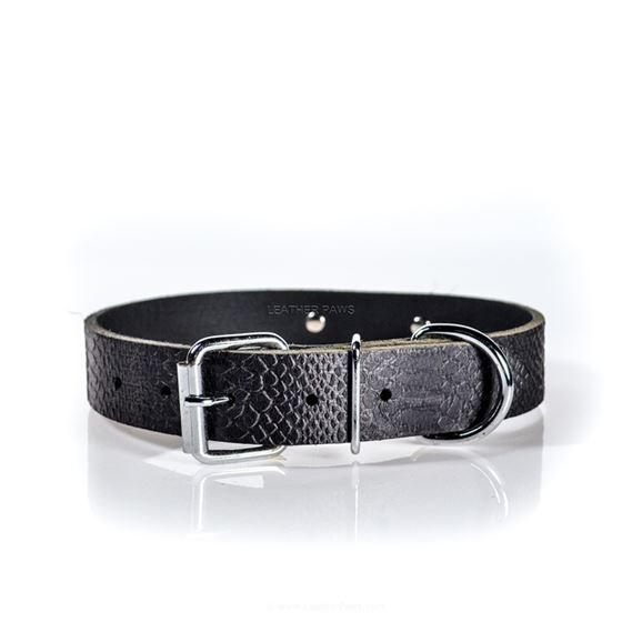 Croc Leather Collar buckle
